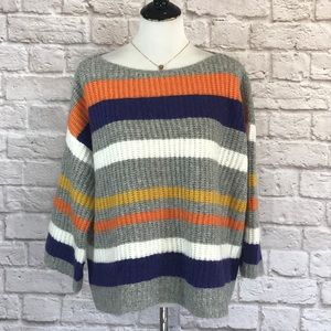 Lou & Grey Striped sweater size medium